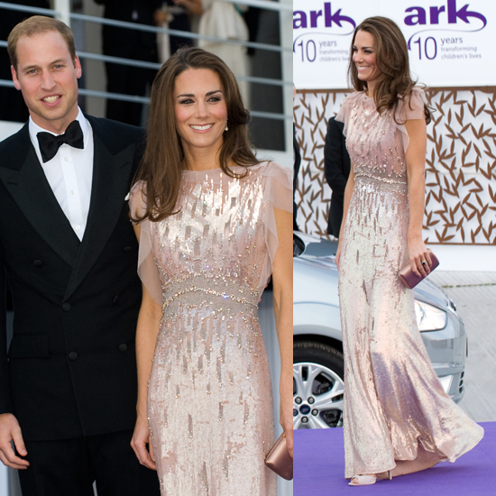 A Closer Look At Jenny Packhams Blush Sequin Gown Repli Kate It
