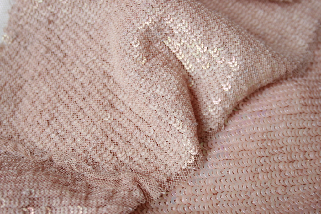 Jenny Packham Blush Sequin Gown Interior Detail