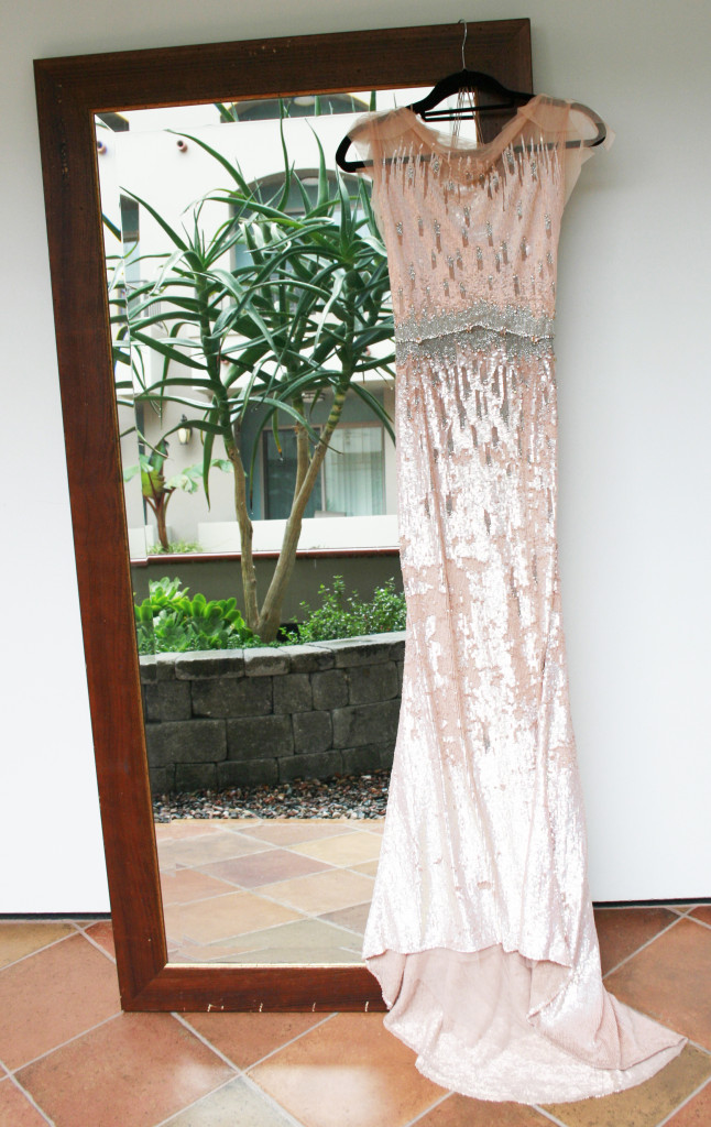 Jenny Packham Blush Sequin Gown (Front)